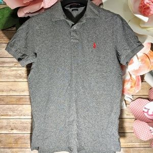 Polo by Ralph Lauren Mens Large Polo Speckle Gray